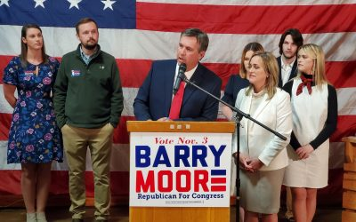 Barry Moore Thanks God, Family, Supporters for AL-2 Win
